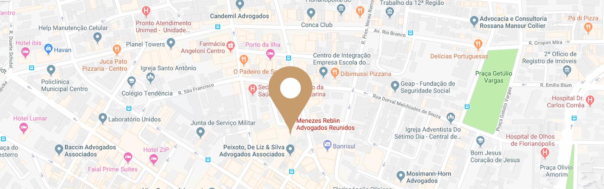 Localização Menezes Reblin Advogados Reunidos